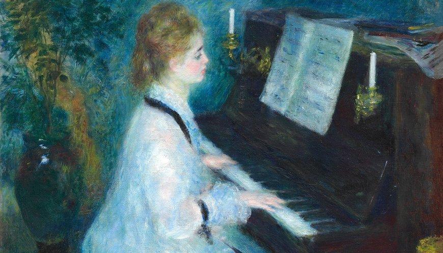 """""""Mujer al piano"""" de Renoir."""